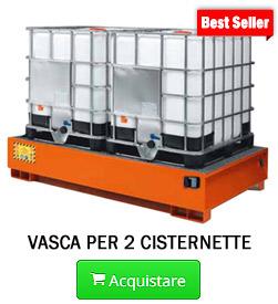 Vasche di raccolta in acciaio per cisterne da 1000 LT
