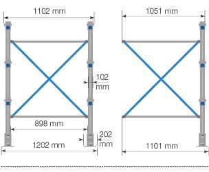 Cantilever MAXI – Crociera per colonna cantilever / cm. L.100