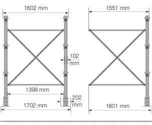 Cantilever MAXI – Crociera per colonna cantilever / cm. L.150