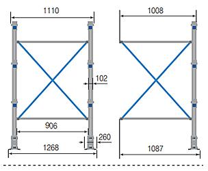 Cantilever ONE – Crociera per colonna cantilever / cm. L.100