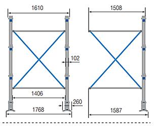 Cantilever ONE – Crociera per colonna cantilever / cm. L.150