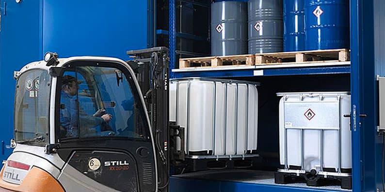 container stoccaggio infiammabili