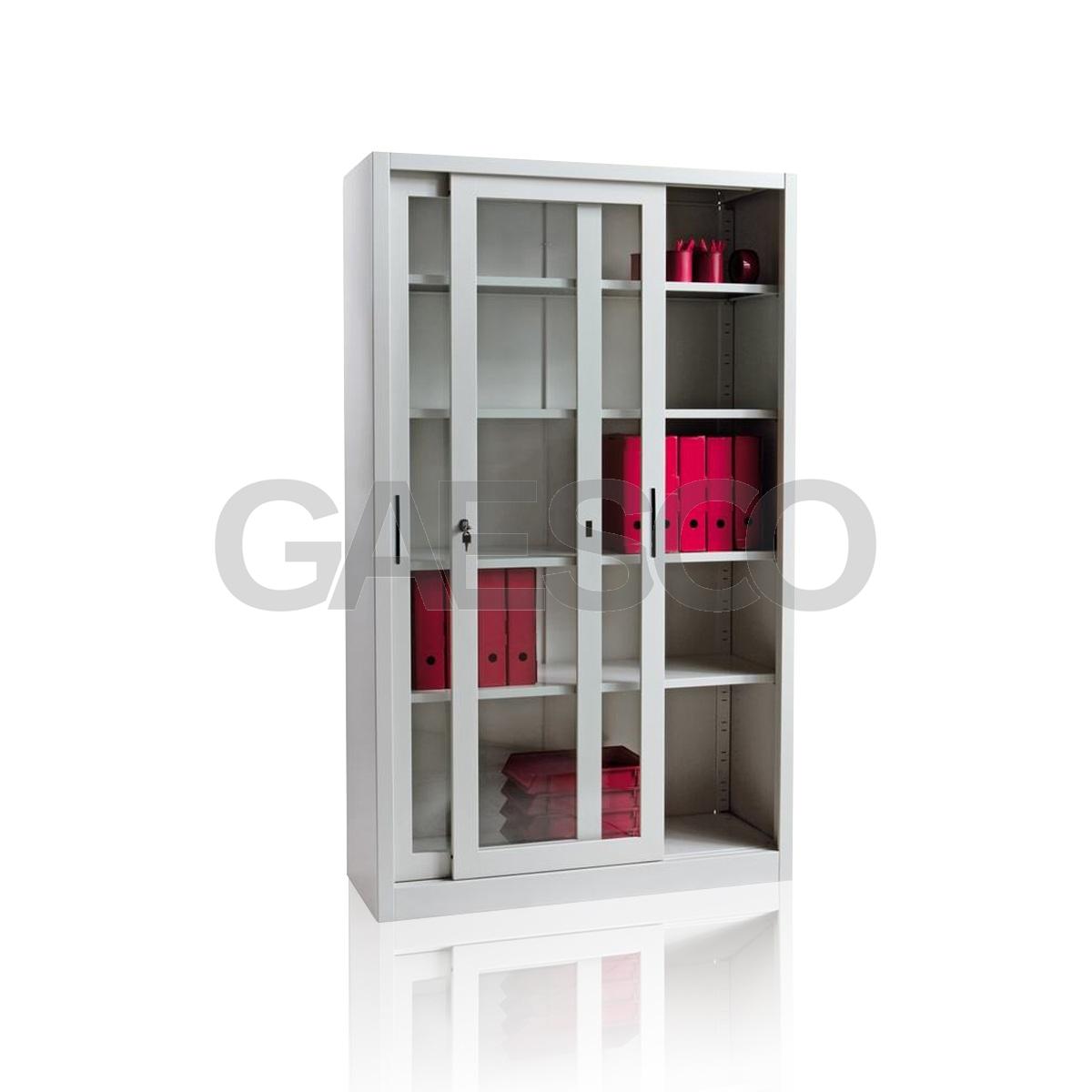 Porta Scorrevole Vetro 120 Cm armadio a porte scorrevoli in vetro temp. 4 ripiani cm. 120x37x200