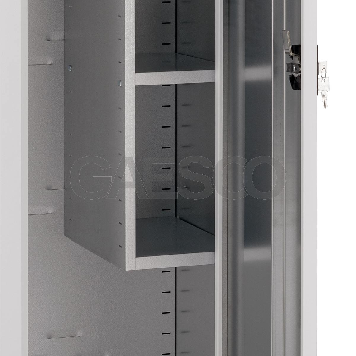 Armadio Portascope Zincoplastificato ad ante battenti - Dim. 45x50x200H cm.