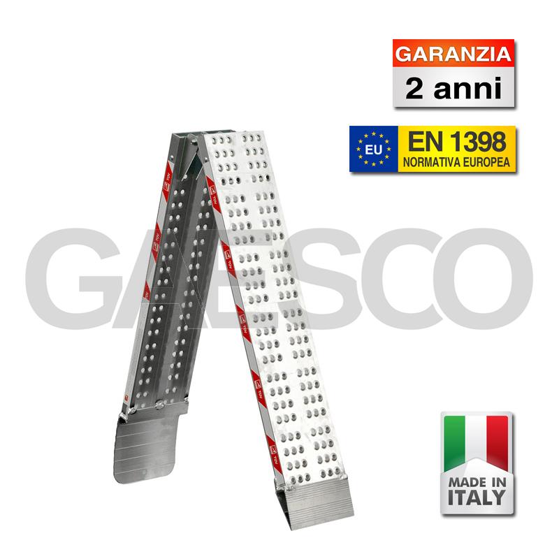 Coppia di rampe pieghevoli in alluminio ultraleggere for Rampe pieghevoli alluminio