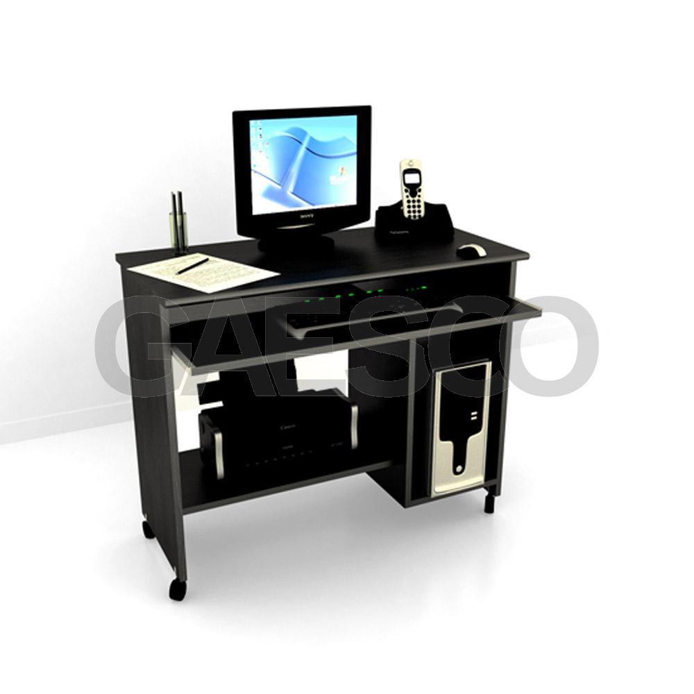 Scrivania Porta Pc Nero.Porta Computer Su Ruote Cm 92x45x76