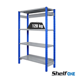 Scaffali a gancio con ripiani Shelf One / cm. L.120xP.40xH.200-BASE