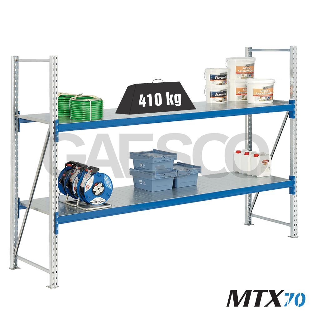 Scaffalature Metalliche Misure Standard.Scaffali Con Ripiano Lungo Mtx 70 Cm L 180xp 100xh 300 Base