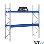 Scaffalature portapallet metalliche MT 70 / cm. L.180xP.80xH.300–BASE