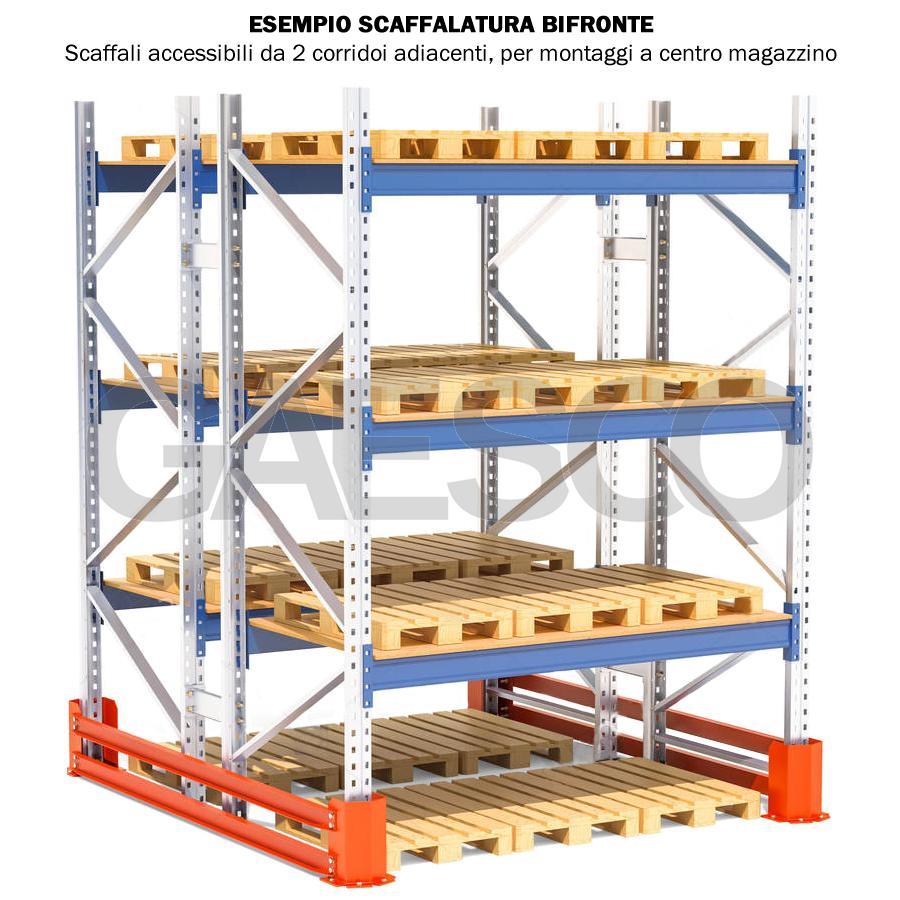 Scaffalature Metalliche Misure Standard.Scaffale Portapallet Mt 10 Cm L 220xp 80xh 450 Base