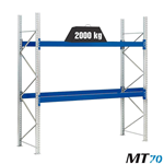 Scaffalature portapallet metalliche MT 70 / cm. L.220xP.80xH.300–BASE