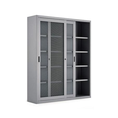 Armadio a porte scorrevoli a rete 4 ripiani cm for Armadio ufficio bianco