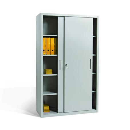 Armadio porte scorrevoli 4 ripiani rinforzati cm for Armadio ufficio bianco