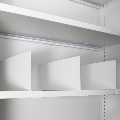 Separatore in metallo per armadio con profondità 45 - H cm. 10